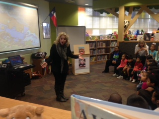 Speaking to students at Uphaus Early Childhood Center
