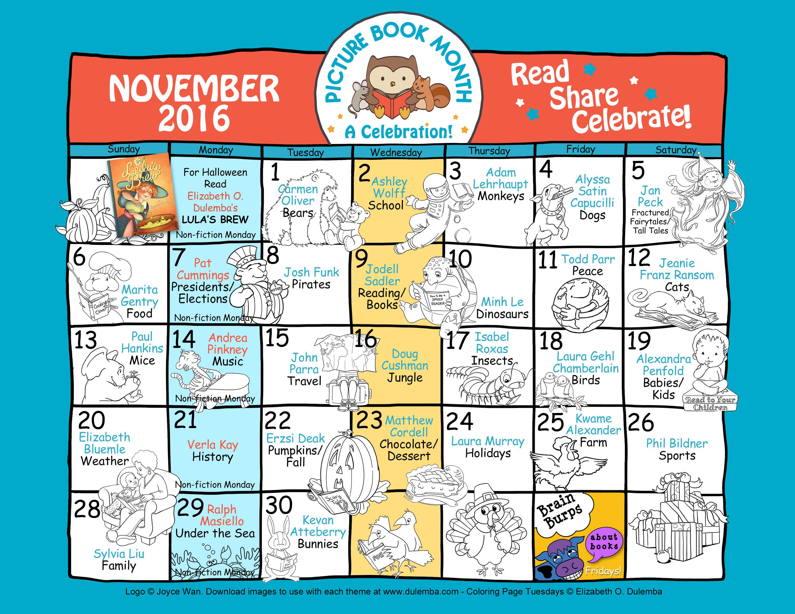 Monthly Calendar Book : Picture book month calendar carmen oliver